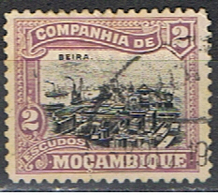 COMPAGNIE DE MOZAMBIQUE 22 // YVERT 138 // PORT DE BEIRA // 1918-25 - Mozambique