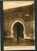 CPA - RABAT - Face Intérieure De L'entrée De La Casbah Des Oudayas, Animé - Rabat