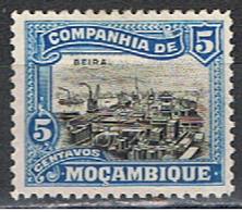 COMPAGNIE DE MOZAMBIQUE 17 // YVERT 123 // PORT DE BEIRA // 1918-25 - Mozambique