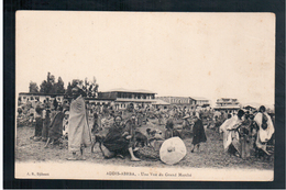 ETHIOPIE Addis Abeba Une Vue Du Grand Marche Ca 1910 OLD  POSTCARD - Etiopía