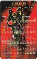 Singapore - Year Of The Dragon Calendar 2000, 224SIGC99, 1999, Used - Singapur