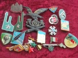 Lotto Fregi Vintage Alpini E.I. Btg. Edolo Divisione Tridentina Stesso Militare - Esercito