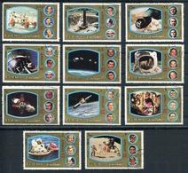 APOLLO 7 - 17. FUJEIRA AÑO 1973 MICHEL 1344 / 1354 SERIE COMPLETE OBLITEREE -LILHU - Asia