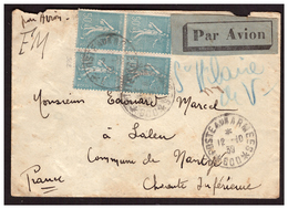Bloc De 4 Du N°362 Sur Lettre En FM De BEYROUTH Pour LALEU Du 12.10.39.  Oblitération Poste Aux Armées 600 - Frankreich