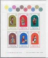 GIBRALTAR - NATALE 1975 - FOGLIETTO NUOVO** - (YVERT 323/328 - MICHEL 328/333) - Gibilterra