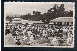 ETHIOPIE Addis Abeba Mercato Del Cereali Ca 1920 OLD PHOTO POSTCARD - Ethiopië