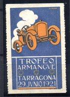 Viñeta Trofeo Armangue  Tarragona De 1921 - España
