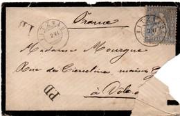 Vitznau 2.VI Sans Millésime D'année - 1874 ? - Lettre Déchirée Pour Dôle France Avec PD - 1862-1881 Zittende Helvetia (getande)