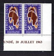 GABON PA N° 18 PAIRE  NEUF SANS CHARNIERE COTE  3.60€   EUROPAFRIQUE - Gabon (1960-...)