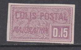 France Colis Postaux N° 18 (.)  15 C. Violet Non Dentelé  Neuf Sans Gomme Sinon TB - Colis Postaux