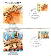 Nouvelle Calédonie - FDC Yvert 516 & 517 Faune Geckos - X 1057 - FDC