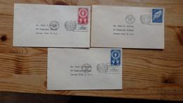3 Enveloppes First Day Of Issue  1951 Et 1953 - Ungebraucht