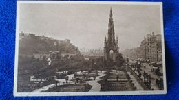 Scott Monument And Castle Edinburgh Scotland - Midlothian/ Edinburgh