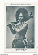 ARCHIPEL DES FIDJI UN GUERRIER EN TENUE DE PARADE CPA BON ETAT - Fiji