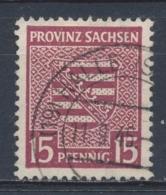 Duitsland/Germany SBZ Provinz Sachsen 1945 Mi:  80y Yt: 15 (Gebr/used/obl/o)(4364) - Sowjetische Zone (SBZ)