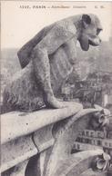 CPA 75 @ PARIS NOTRE DAME - CATHEDRALE - CHIMERE GARGOUILLE - Singe - Notre Dame De Paris