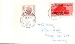 Strike 1971 - LDS London Despatch Service - Motorbike - Letter To Germany Via Bruxelles - Grève Postale - Marcophilie