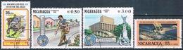 Nicaragua 1976 / 89  -  Yvert  1129 + 1154 + AEREOS  899 + 964  ( Usados ) - Nicaragua