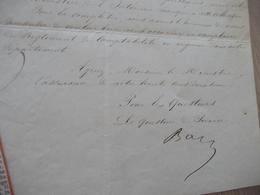 LAS Autographe Signée Baze Jean  Lot Et Garonne Sénateur 1800/1881 Commande Règlements Comptabilité Ministère Intérieur - Autographes