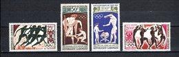 GABON PA N° 24 à 27  NEUFS SANS CHARNIERE COTE 12.00€  JEUX OLYMPIQUES TOKYO - Gabon (1960-...)
