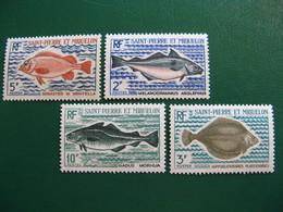 SAINT PIERRE ET MIQUELON YVERT POSTE ORDINAIRE N° 421/424 NEUFS** LUXE COTE 36,00 EUROS - St.Pedro Y Miquelon
