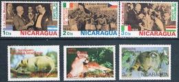 Nicaragua 1974  -  Yvert  953 / 55 + 975 / 77  ( ** ) - Nicaragua