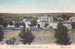 Tunisie (Menzel Bourguiba) FERRYVILLE Place Amiral Guepratte Et Marché  (Editions : LL 9 Collection H.Manson)*PRIX FIXE - Tunisia