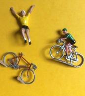 Coureurs Cyclistes : Maillot Jaune & Maillot Vert (vélo : 6 Cm) - Figurillas