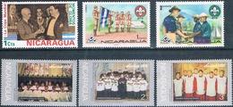 Nicaragua 1974 / 75  -  Yvert  953 + 1020 + 1022 + 1026 / 28  ( ** ) - Nicaragua