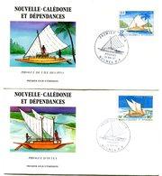 Nouvelle Calédonie - FDC Yvert 535 & 536 Pirogues - X 1070 - FDC