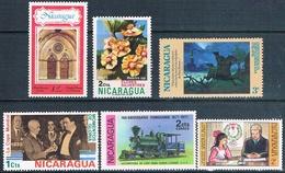 Nicaragua 1974 / 78  -  Yvert  954 + 962 + 1000 + 1091 + 1099 + AEREO  811  ( ** ) - Nicaragua
