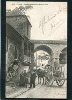 CPA - Karten Bost - AURAY - Vieilles Maisons De La Rue Du Pavé, Bien Animé - Attelage  (dos Non Divisé) - Auray