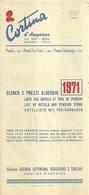 """3278 """"CORTINA D'AMPEZZO-ELENCO E PREZZI ALBERGHI 1971"""" CARTINA SUL RETRO-DEPLIANT 6 PIEGHI-IN 4 LINGUE - Dépliants Turistici"""
