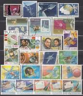 KUBA 1974-1990 - Partie Raumfahrt Mit 24 Verschiedenen  Used - Raumfahrt