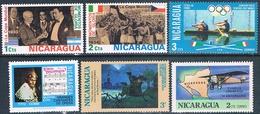 Nicaragua 1975 / 77  -  Yvert  953 / 54 + 982 + 1000 + 1053 + 1076  ( ** ) - Nicaragua