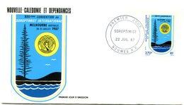 Nouvelle Calédonie - FDC Yvert 541 Convention Soroptimist - X 1074 - FDC