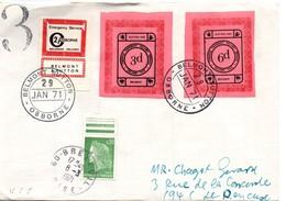 Strike 1971 - Osborne Belmont Sutton - Letter Via Breteuil Oise - Grève Postale - Marcophilie