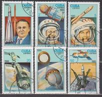 KUBA 1986- MiNr: 3005-3010 Komplett  Used - Raumfahrt