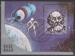 KUBA 1986- MiNr: 3011 Block 94  Used - Raumfahrt