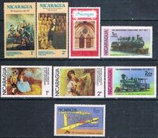 Nicaragua 1975 / 78  -  Yvert  988 / 89 + 1085 / 86 + 1091 + 1098 / 99  ( ** ) - Nicaragua