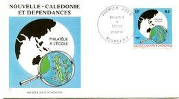 Nouvelle Calédonie - FDC Yvert 545 Philatélie à L'école - X 1077 - FDC