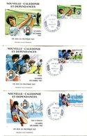 Nouvelle Calédonie - FDC Yvert 546 à 548 Jeux Pacifique Sud - X 1078 - FDC