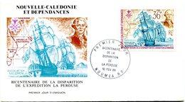 Nouvelle Calédonie - FDC Yvert 549 La Pérouse - X 1079 - FDC