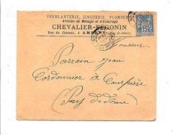 SAGE SUR LETTRE A EN TETE CHEVALIER-BEGONIN à AMBERT PUY DE DOME 1897 - 1877-1920: Période Semi Moderne