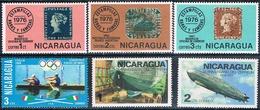 Nicaragua 1976 / 77  -  Yvert  1053 + 1057 / 59 + 1064 / 65  ( ** ) - Nicaragua