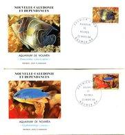 Nouvelle Calédonie - FDC Yvert 551 & 552 Aquarium Nouméa - X 1081 - FDC