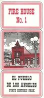 "3280 ""FIRE HOUSE No.1 - EL PUEBLO DE LOS ANGELES-STATE HISTORIC PARK""MAPPE SUL RETRO -DEPLIANT 3 PIEGHI-IN AMERICANO - Dépliants Turistici"
