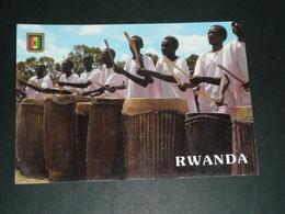 CPM, Carte Postale, RWANDA Intore En Jour De Fête, Timbre - Rwanda