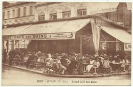 Belle Carte Sépia  12327.  ROYAN (Ch.Inf.) .  Grand Café Des Bains , Très Bien Animée - Royan