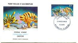 Nouvelle Calédonie - FDC Yvert 557 Fossile Vivant - X 1085 - FDC